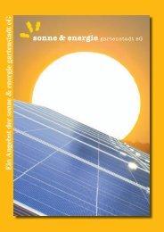 Ein Angebot der sonne & energie gartenstadt eG