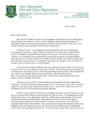 letter, maps and information - New Hampshire Fish and Game ...