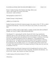 Planning and Zoning Commission Minutes - September 24, 2012