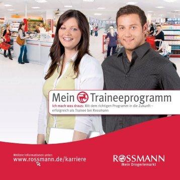 Mein Traineeprogramm - ROSSMANN