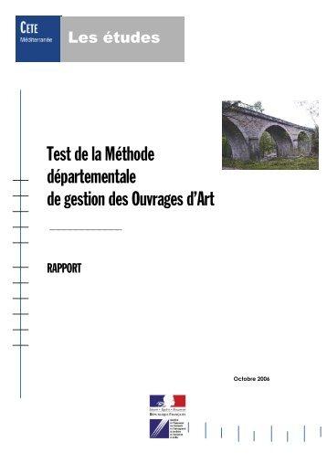 Test Methode départementale V2 - PLATEFORME OUVRAGES D ...