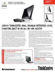 ThinkCentre M90z Tech Specs - Lenovo