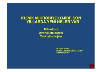 Mikrobiyoloji de Yenilikler ve Mikrobiyoloji Pratiği - Düzen ...