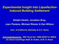 Experimental Insight into Liquefaction- Induced Building ... - NEES