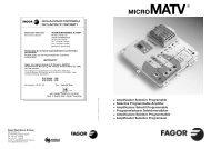 micromatv - Fagor Electrónica