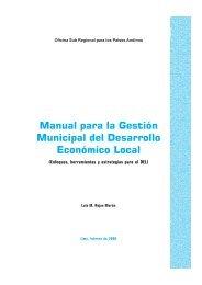 Manual para la Gestión Municipal del Desarrollo Económico Local