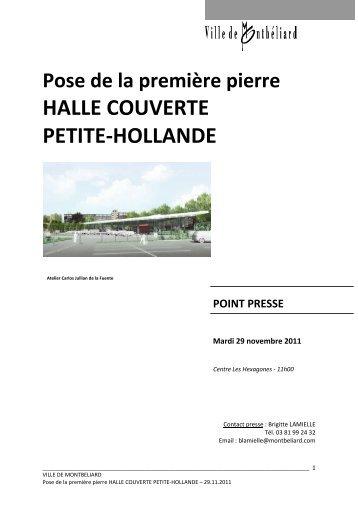 DP Pose première pierre Halle couverte Petite_Hollande - Montbéliard