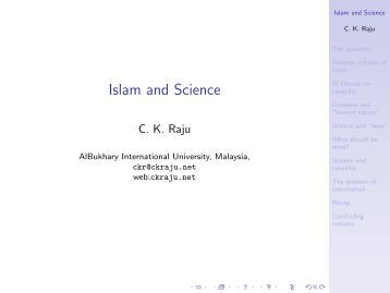 Islam and Science - CK Raju
