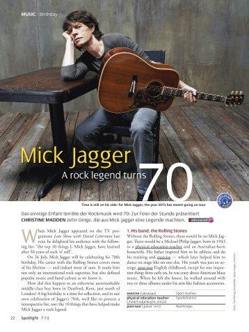 Mick Jagger - Spotlight Online
