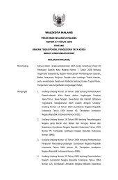 Peraturan Walikota Malang Nomor 67 Tahun 2008 tentang Uraian ...