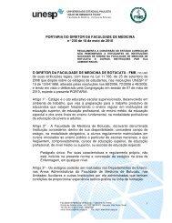 PORTARIA DO DIRETOR DA FACULDADE DE MEDICINA ... - Unesp