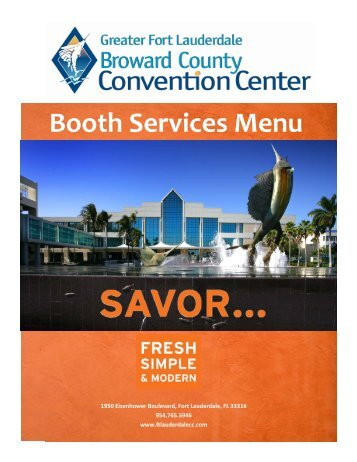 Booth Services Menu - Travel Weekly