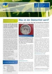 Newsletter 01/2012 - Graduiertenakademie - Leibniz Universität ...
