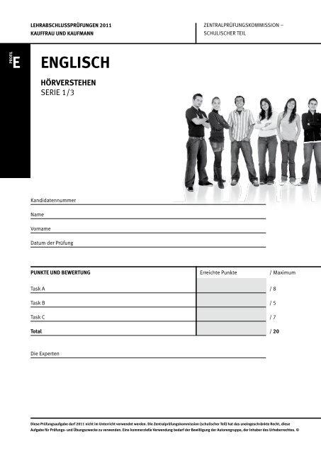 e englisch hörverstehen - KV Schweiz