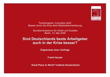 Deutschlands Beste Arbeitgeber 2010 - Great Place to Work Institute