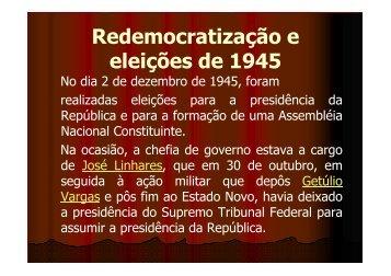 (Microsoft PowerPoint - redemocratiza\347 ... - La Salle