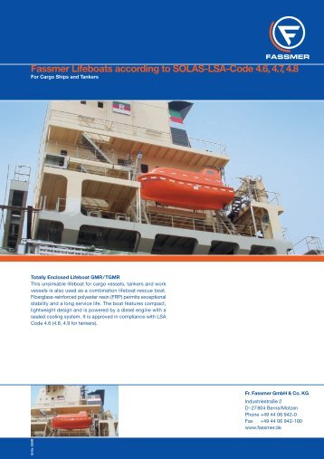 Fassmer Lifeboats according to SOLAS-LSA-Code 4.6 ... - Metalock