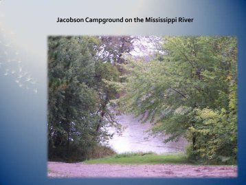 Jacobson Campground on the Mississippi River