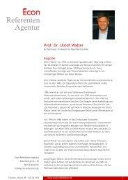 Prof. Dr. Ulrich Walter - Econ Referenten-Agentur