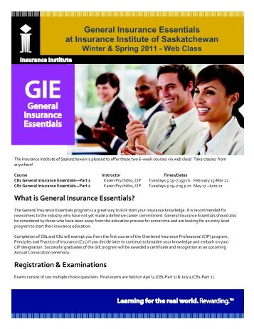 What is General Insurance Essentials? - Insurance Institute of Canada