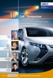 10. Internationales CAR – Symposium - Evolution Team