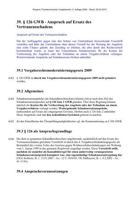 39. § 126 GWB - Oeffentliche Auftraege