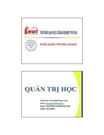 Nhà quản trị - Đại học Duy Tân