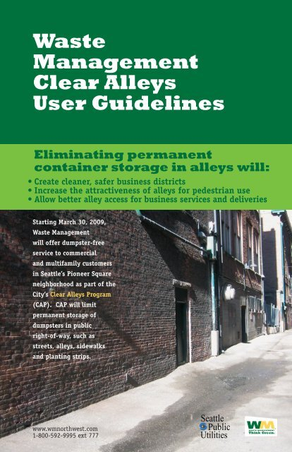 Waste Management Clear Alleys User Guidelines - Seattle Clear