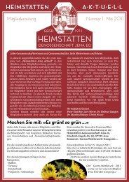 Zeitung Mai 2011 - Heimstätten Genossenschaft Jena eG