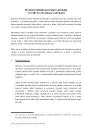 Povinnost mlčenlivosti (nejen) advokáta ve světle novely zákona o ...