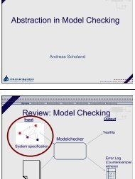Abstraction in Model Checking Review: Model Checking