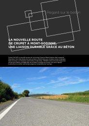 La nouvelle route de Crupet à Mont-Godinne - Febelcem
