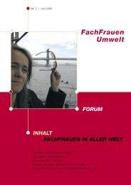 Forum 2 / 2006 - FachFrauen Umwelt