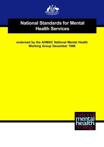 National Standards body - Department of Health