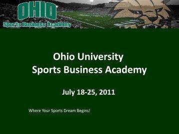 Ohio University Sports Business Academy