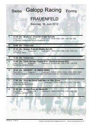 10. Juni 2012 FRAUENFELD Rennen 1 - Galopp Racing Forms