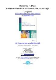 Ramanlal P. Patel Homöopathisches Repertorium der Zeitbezüge