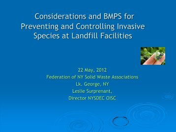 Invasive species - Home for the New York Federation of Solid Wast ...