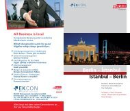 Istanbul – Berlin Berlin – Istanbul - Berlin Business Location Center