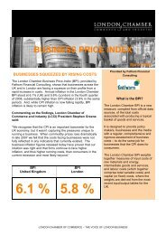 Business Price Index - London Chamber of Commerce and Industry