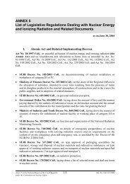 ANNEX 5 List of Legislative Regulations Dealing with ... - SÚJB