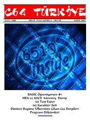 C64 Turkiye - Sayi 08 (Ekim 2005).pdf - Retro Dergi
