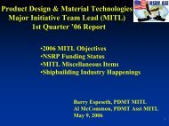 MITL Activities Report for the 3rd Quarter '03 - NSRP