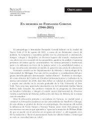 EN MEMORIA DE FERNANDO CORONIL Guillermo Bustos ...