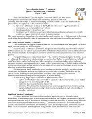 Ottawa Decision Support Framework Workshop Summary - Patient ...