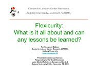 Flexicurity: What is it all about and can any lessons be learned?