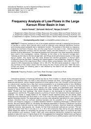 Frequency Analysis of Low-Flows in the Large Karoun ... - irjabs.com
