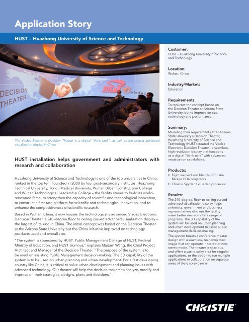 Download full story - Christie Digital Systems