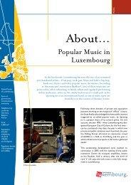 Popular Music in Luxembourg - Gouvernement du Grand-Duché de ...