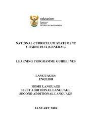 Languages - Department of Basic Education